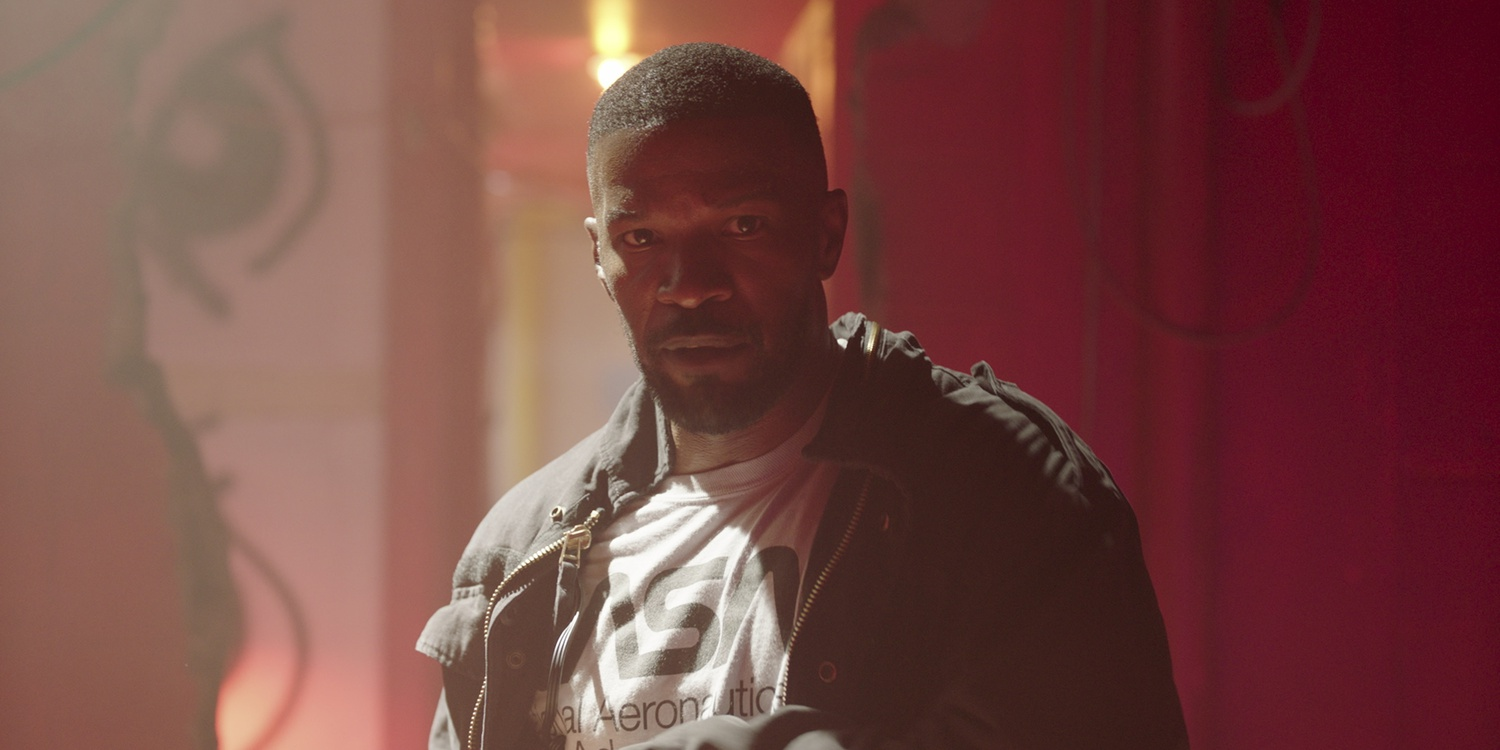 "Jamie Foxx stars as Art in ""Project Power"" (2020), directed by Henry Joost and Ariel Schulman."
