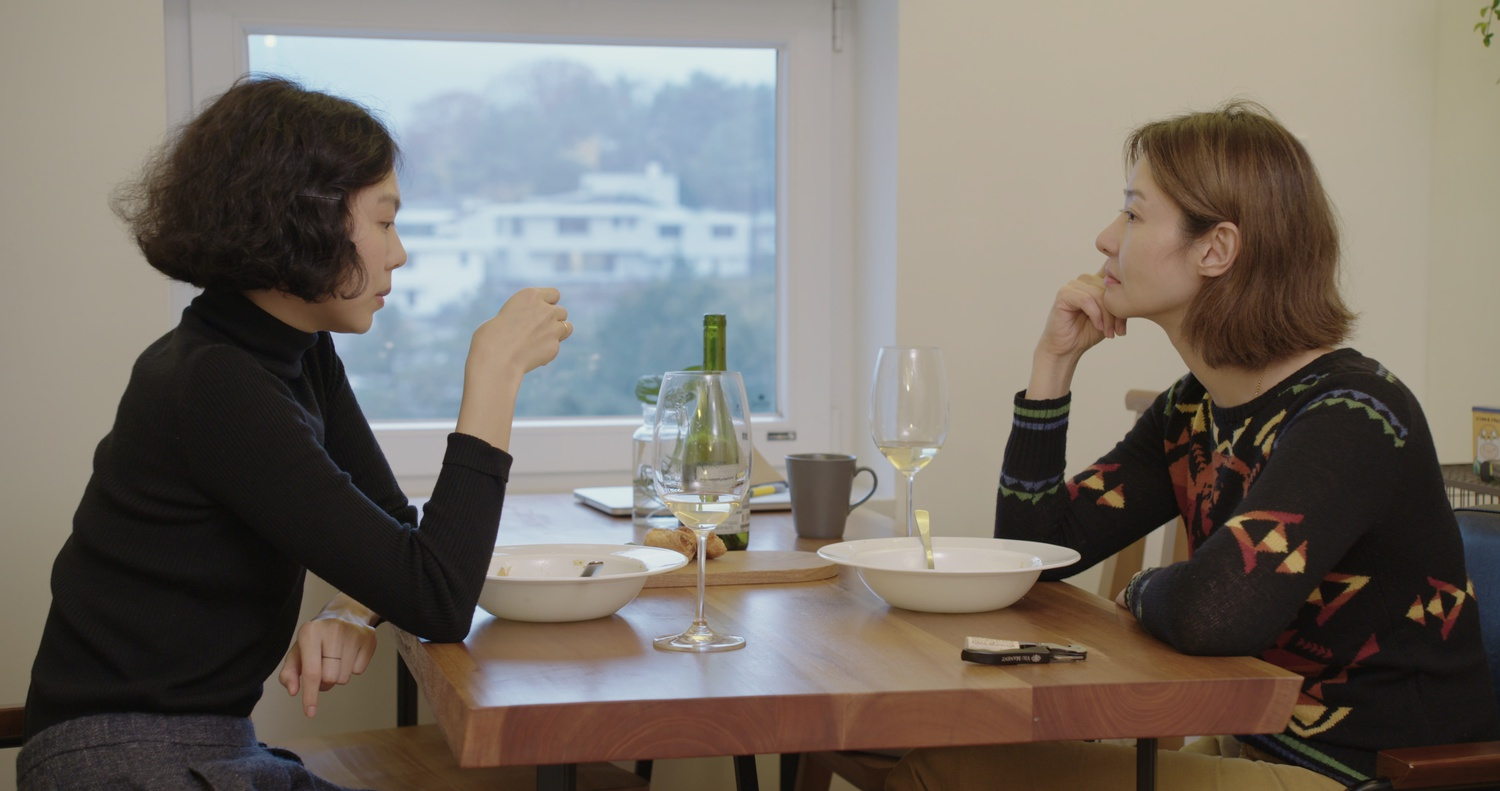 "Kim Min-hee (left) stars as Gam-hee and Song Seon-mi stars as Su-young in ""The Woman Who Ran"" (2020), directed by Hong Sang-soo."