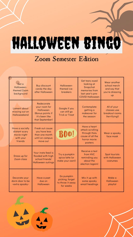 Halloween Bingo: Zoom Edition