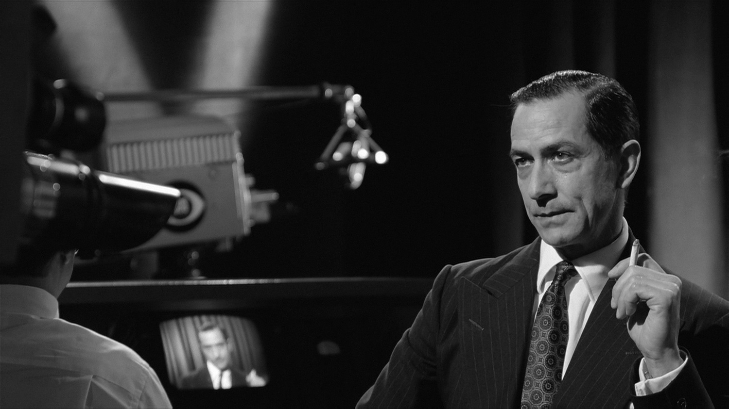 """David Strathairn stars as Edward Murrow in """"Good Night, and Good Luck"""" (2005), directed by George Clooney."""
