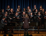 A photo of the Radcliffe Choral Society at a pre-COVID performance