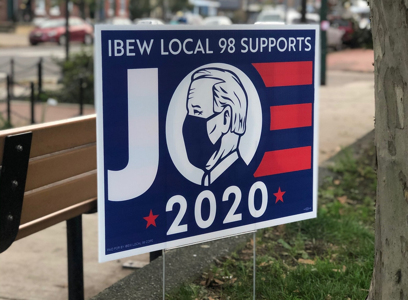 The Local 98 chapter of the International Brotherhood of Electrical Workers endorsed former Vice-President Joe Biden