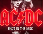 """Promotional art for AC/DC's """"Shot in the Dark"""""""