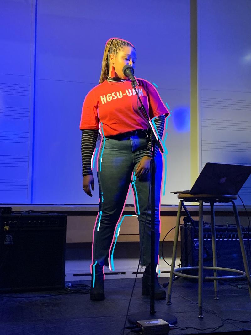 A photo of Joy Nesbitt performing
