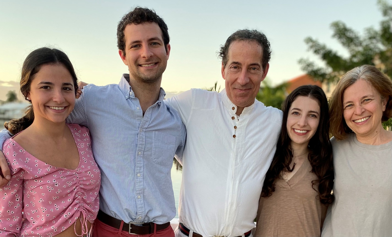 "Thomas B. ""Tommy"" Raskin, second from left, with his family."