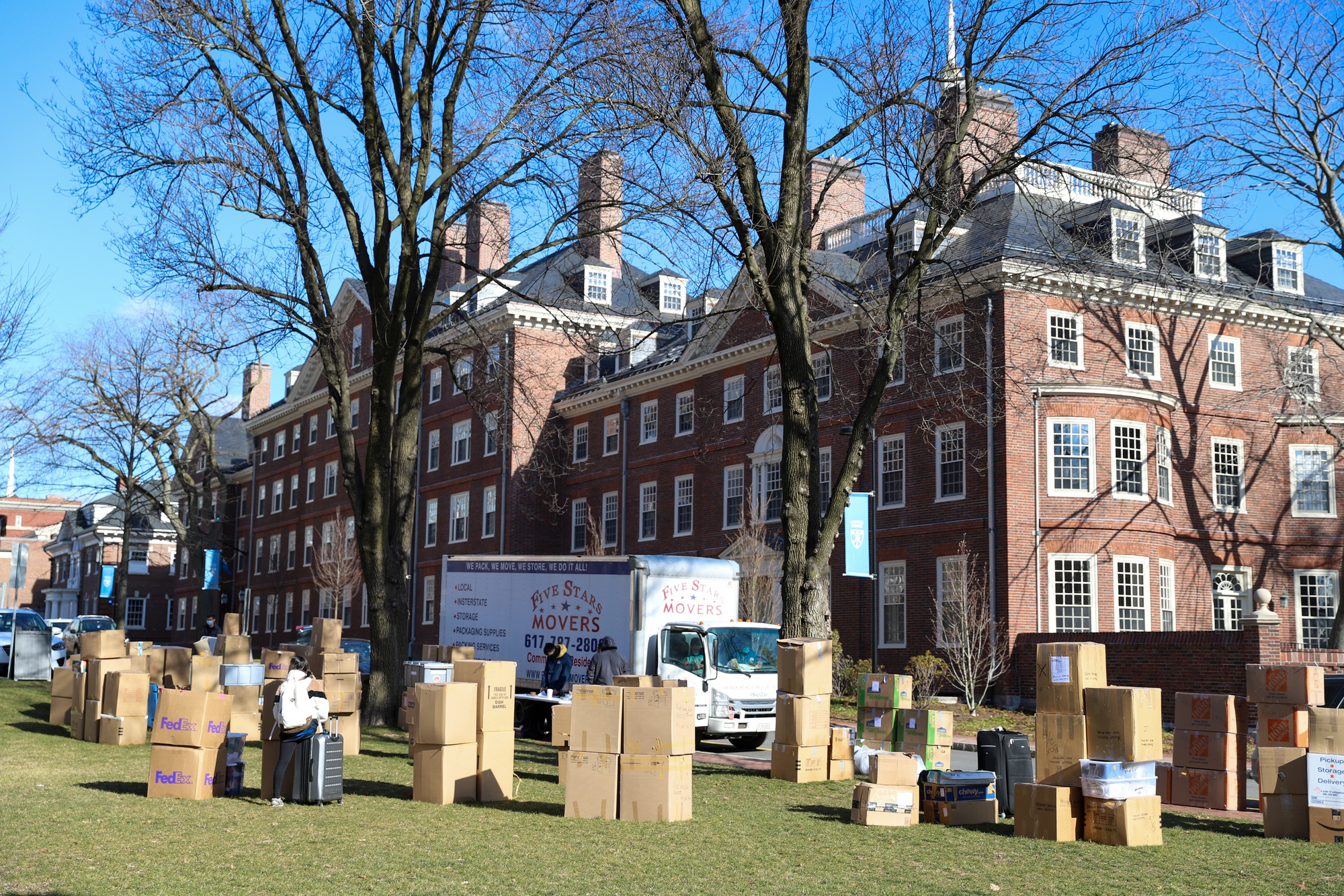 Harvard students moved back in this week to a campus drastically modified for the coronavirus pandemic.