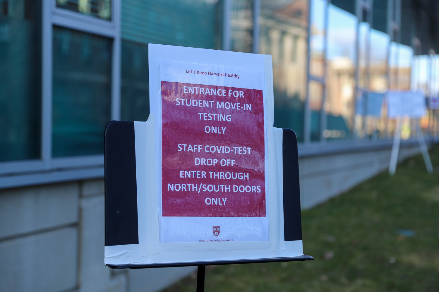 Students approved to return to campus had to take two coronavirus tests upon their arrival and remain in their rooms until receiving a negative result.