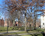 Harvard Yard Deserted in January Covid