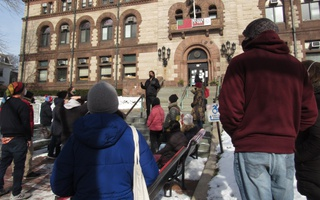 Project Right to Housing rally Jivan Sobrinho-Wheeler