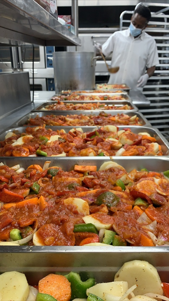 Ascia Cafe prepares meals for distribution through the CommonTable restaurant program, which Commonwealth Kitchen created and runs.