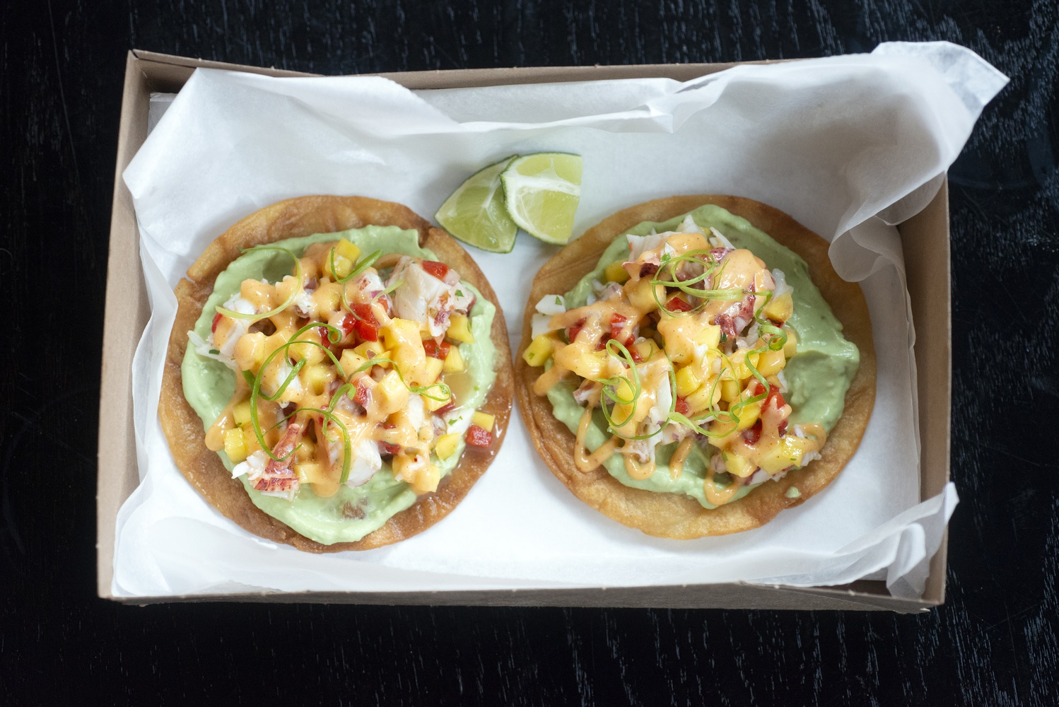 The Lobster Tostada is one of the menu items at Chef Jeremy Sewall's La Ventana.