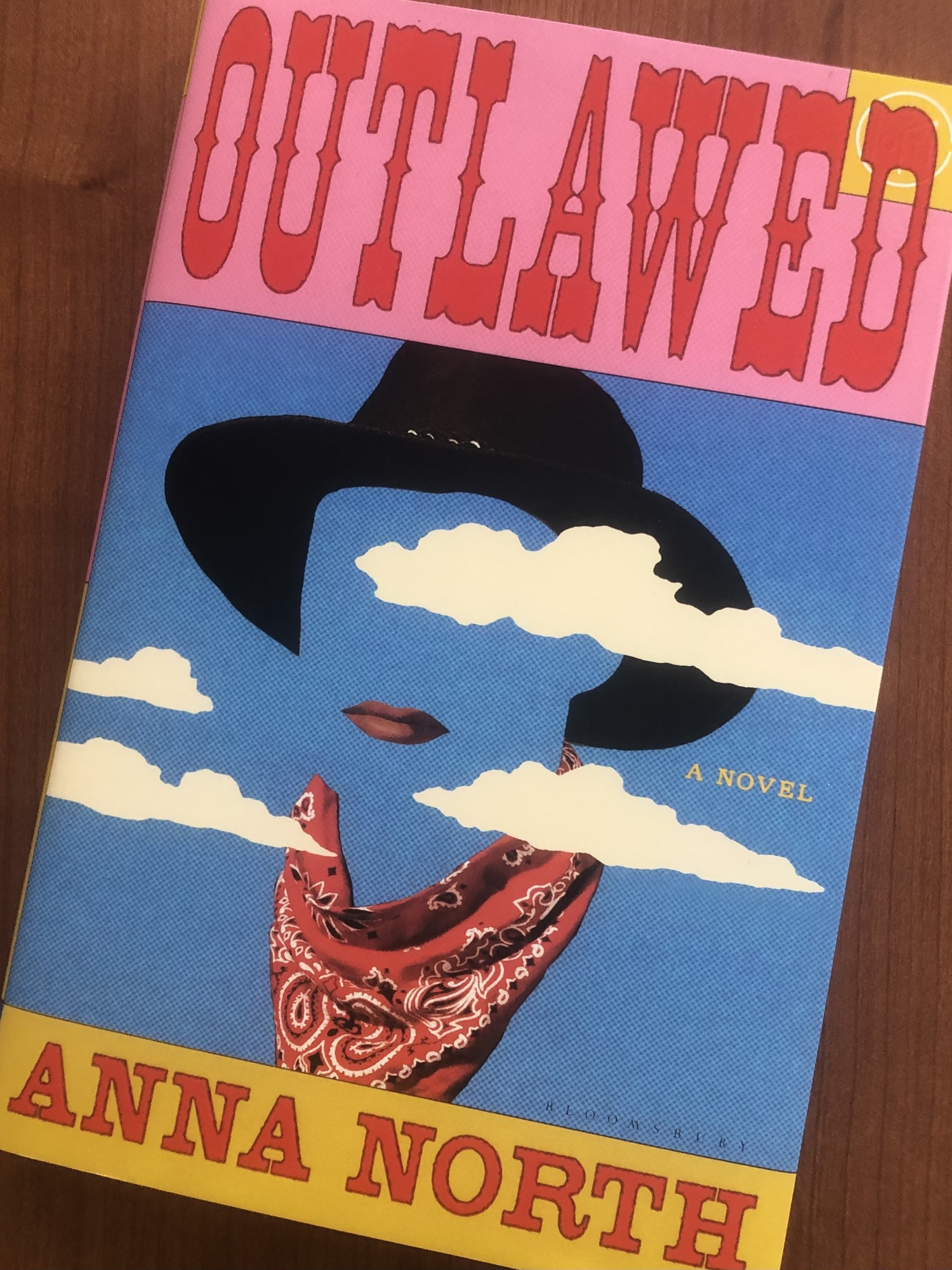 """Cover for feminist western """"Outlawed"""" by Anna North"""