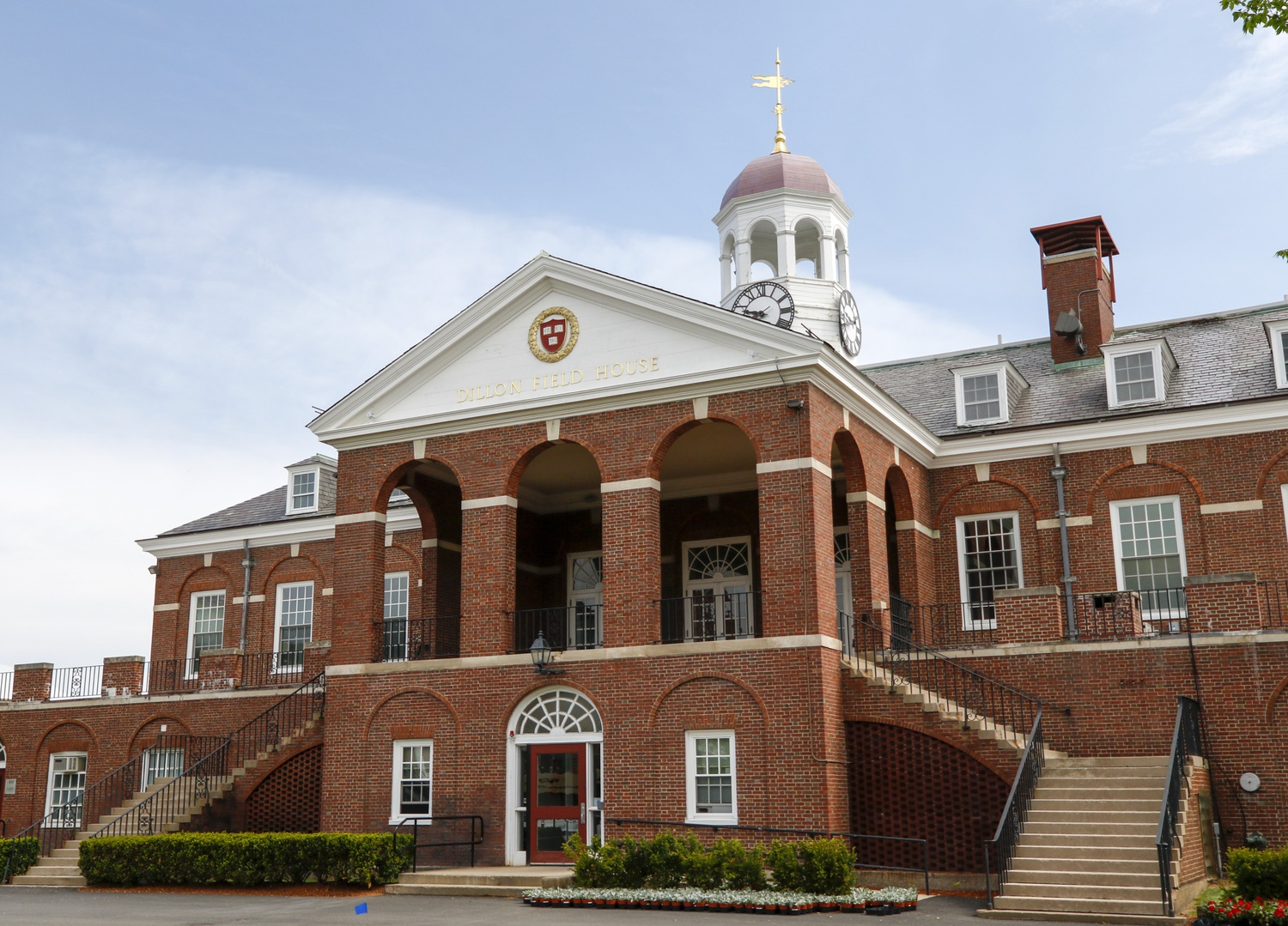 Dillon Field House contains facilities and offices that supports Harvard athletics. Student athletes living on campus were allowed to resume sport-specific training Monday.