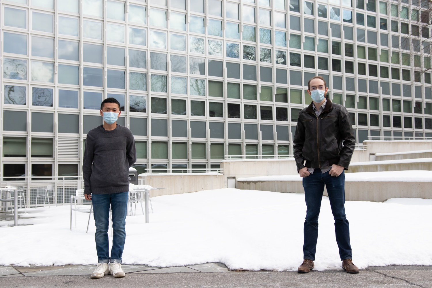Zeyu Hao and Andrew Zimmerman are two Harvard researchers who worked on the development of a new twisted graphene configuration for achieving superconductivity.