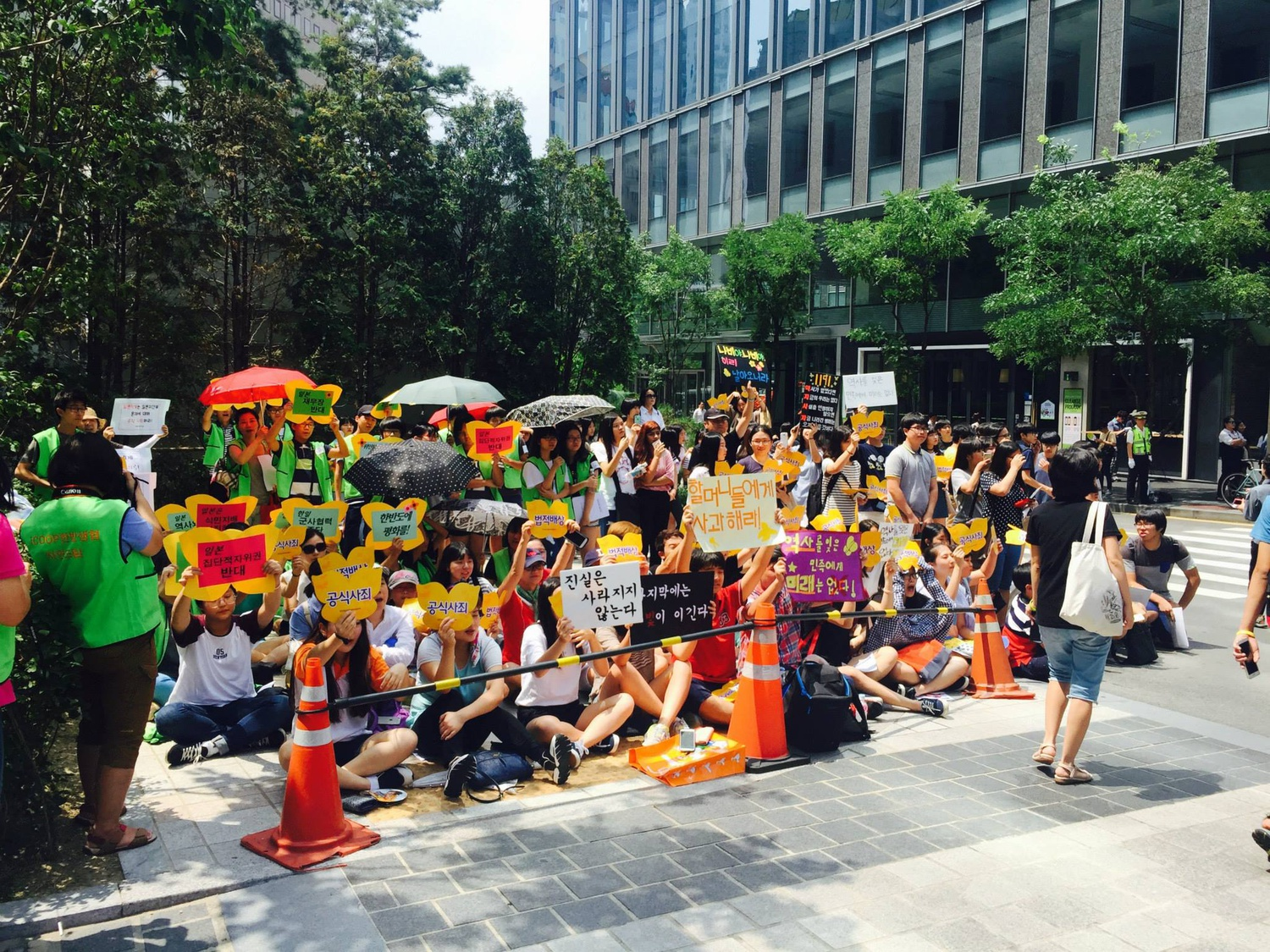 Every Wednesday since 1992, South Koreans have held a protest in front of the Japanese embassy in the capital, Seoul, to demand the Japanese government apologize to and compensate victims of sexual slavery in Imperial Japan, known as comfort women.