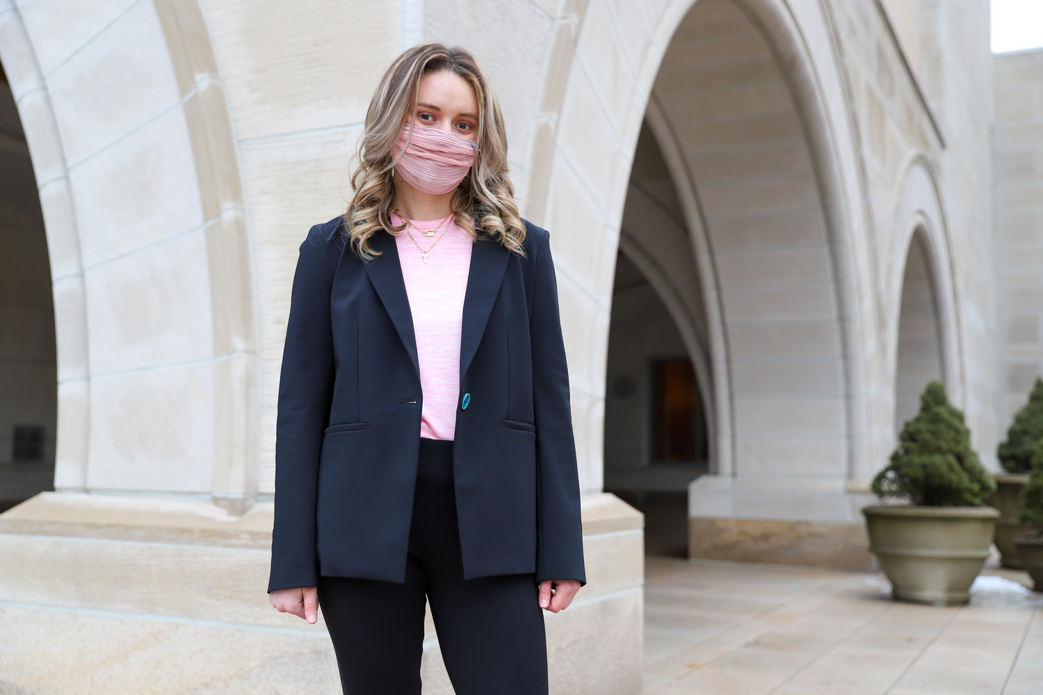 Second-year Law student Logan E. Brown created her own professional pantsuit company after she experienced the difficulty of finding comfortable professional clothing for interviews.