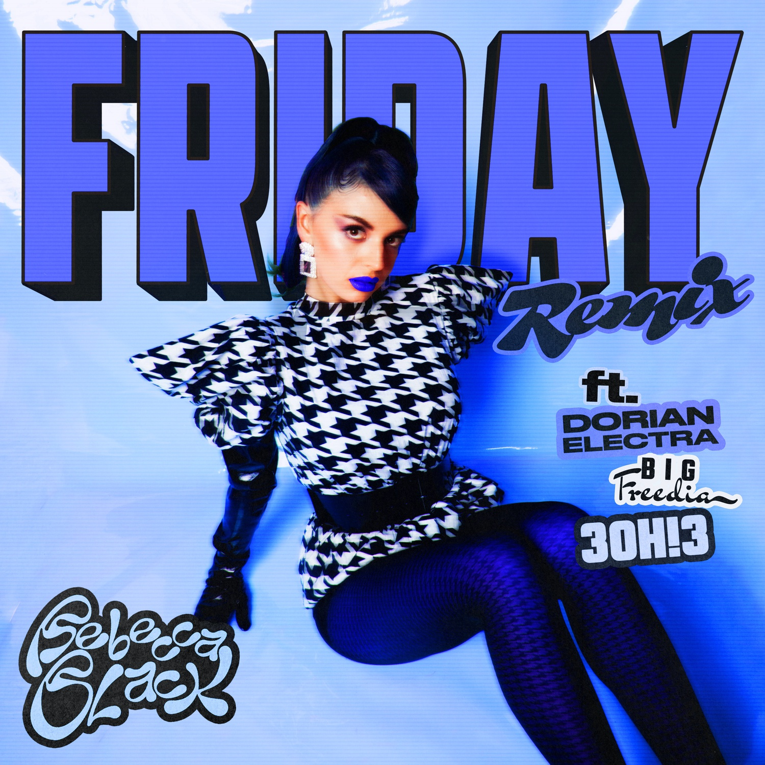 """Single cover for Rebecca Black's """"Friday (Remix)."""""""