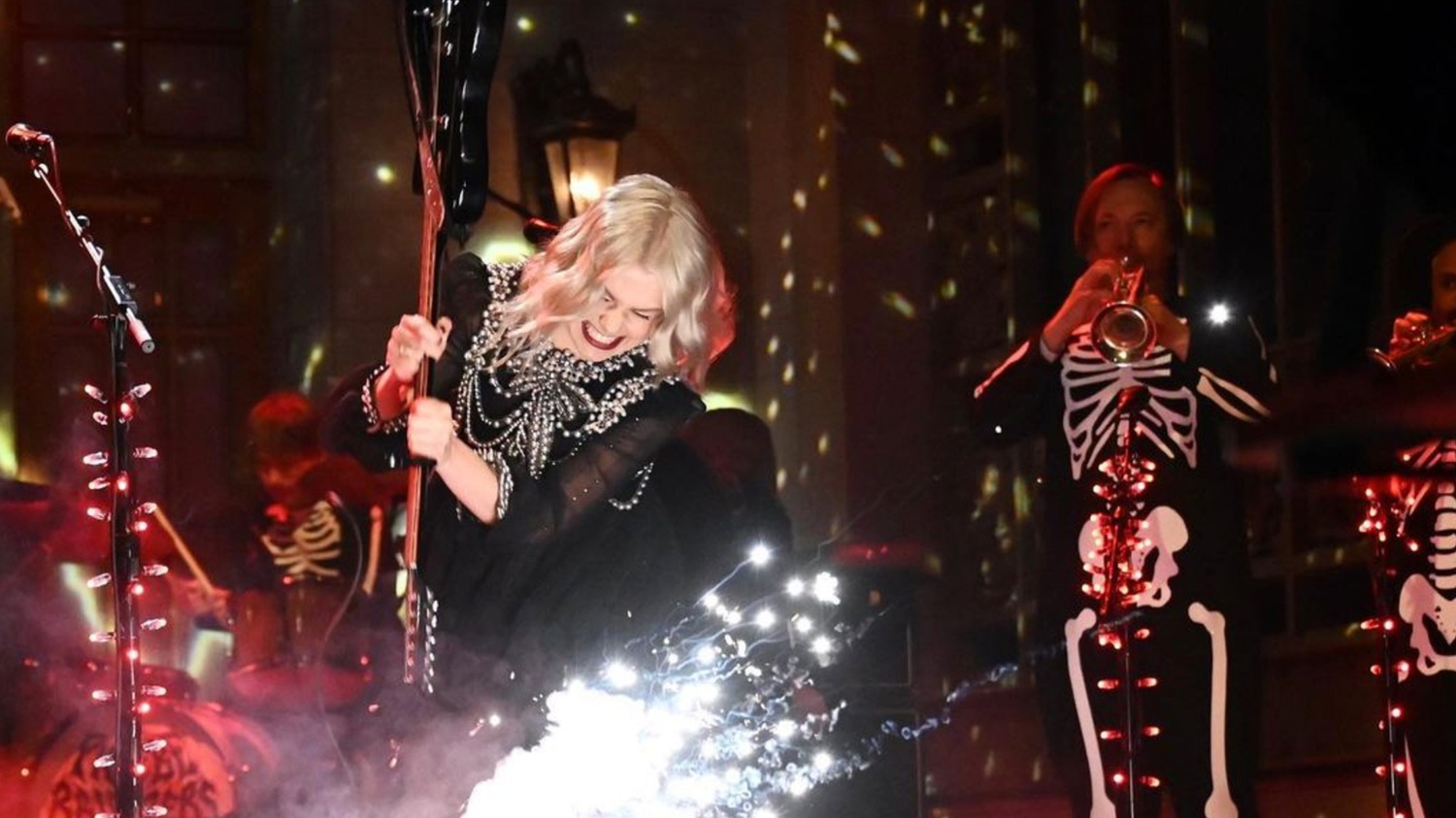 Phoebe Bridgers smashed her guitar at the end of her SNL performance.