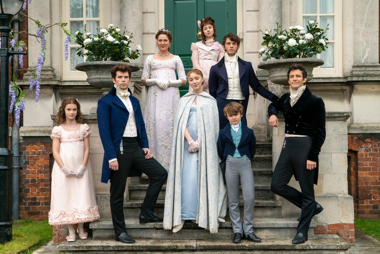 "The Bridgerton Family from the Netflix adaption of ""Bridgerton."""