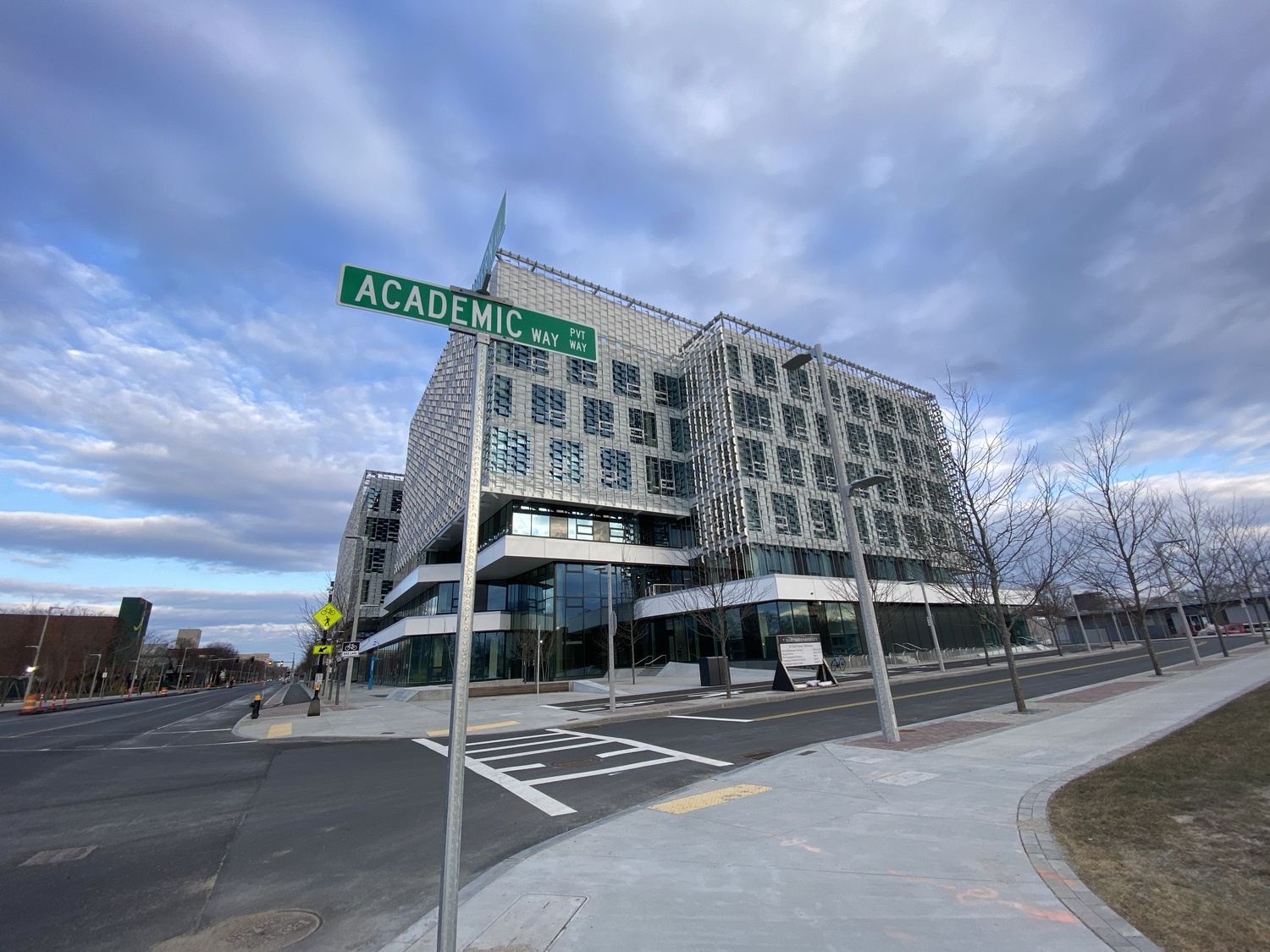Harvard's new Science and Engineering Complex is located at 150 Western Avenue in Allston. Harvard affiliates started moving into the building in November 2020.