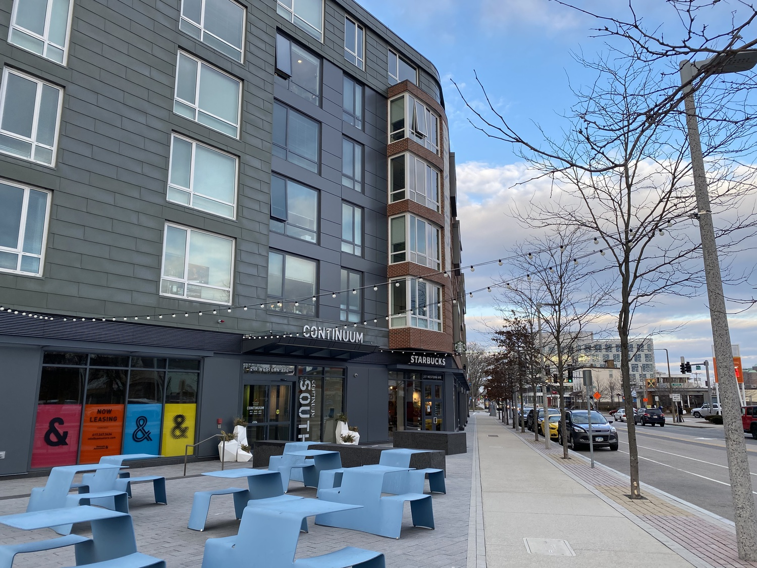 Continuum is an apartment and retail development located at Barry's Corner.