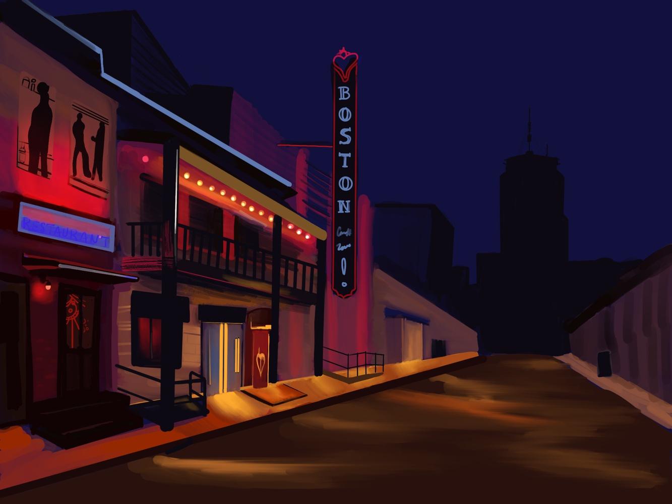 Nighttime Boston