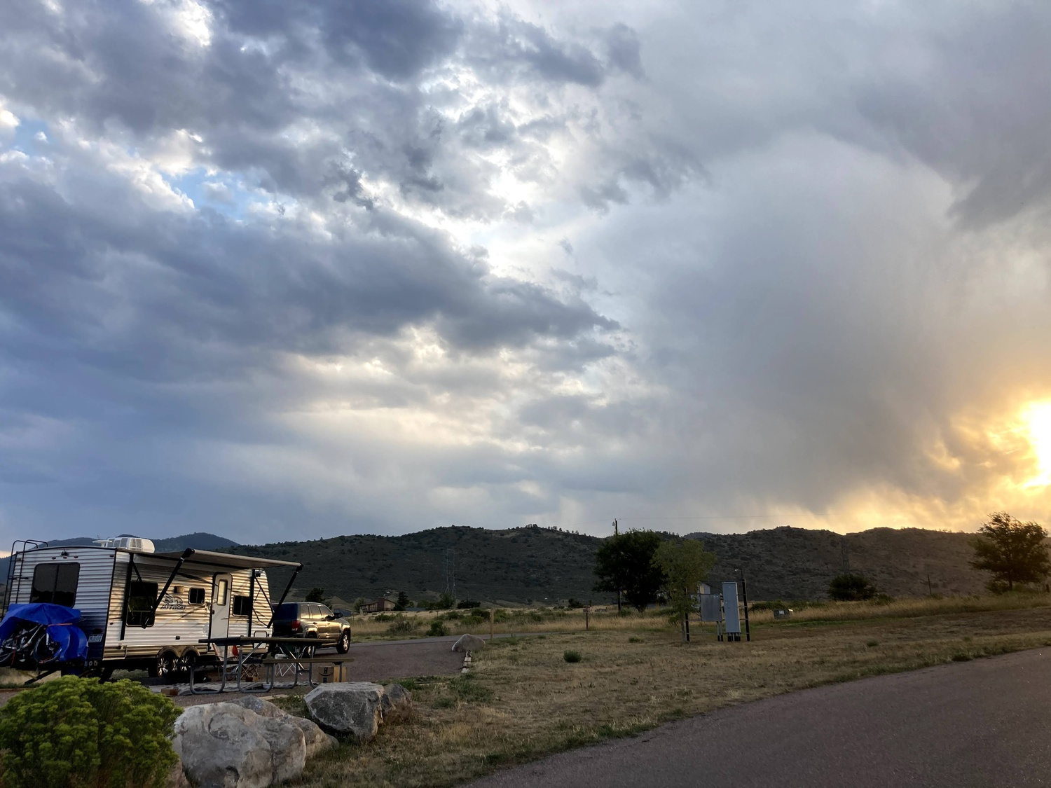 Rebecca and Michael spent their final night in Colorado at Bear Creek Lake Park before departing on a 10-day road trip to Massachusetts (August 2020).