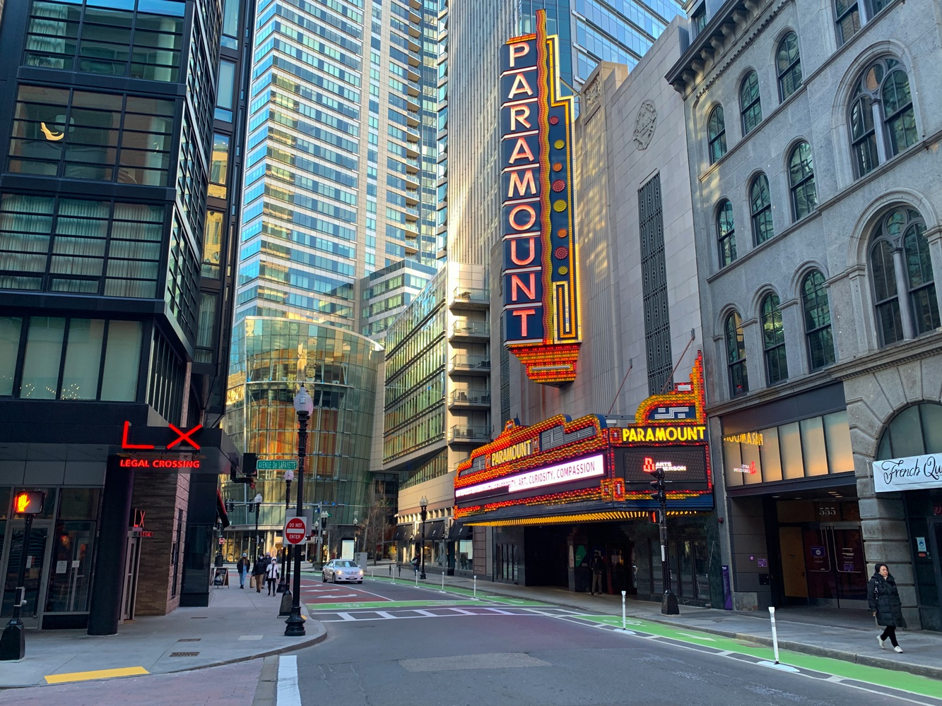 Paramount Theatre is a theater in Boston on Washington Street. Though arts landmarks in the Boston area were forced to close due to the coronavirus pandemic, many quickly learned to adapt through virtual programming and live streaming.