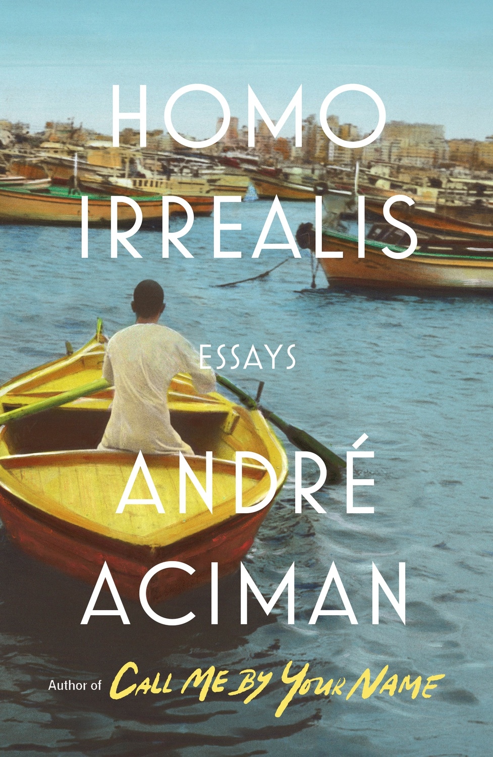 """Cover Art for André Aciman's newest book, """"Homo Irrealis."""""""