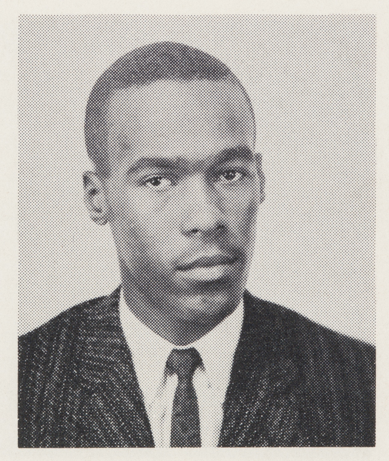 Kent A. Garrett Jr.'s '63 headshot in the Harvard Yearbook. Garrett was one of a handful of Black students that attended Harvard at the time.