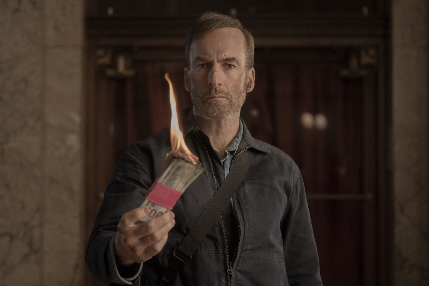 """Bob Odenkirk stars as Hutch Mansell in """"Nobody,"""" directed by Ilya Naishuller."""