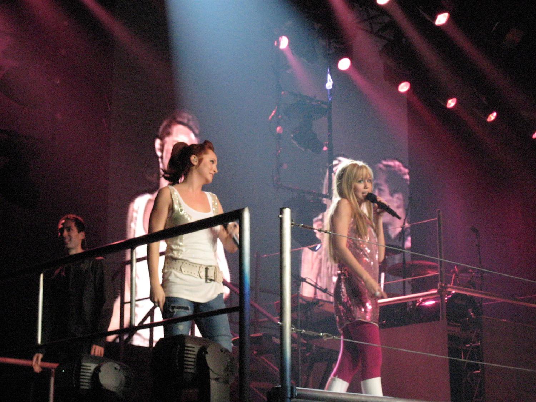 Miley Cyrus as Hannah Montana on the stage of Hannah Montana Tour.