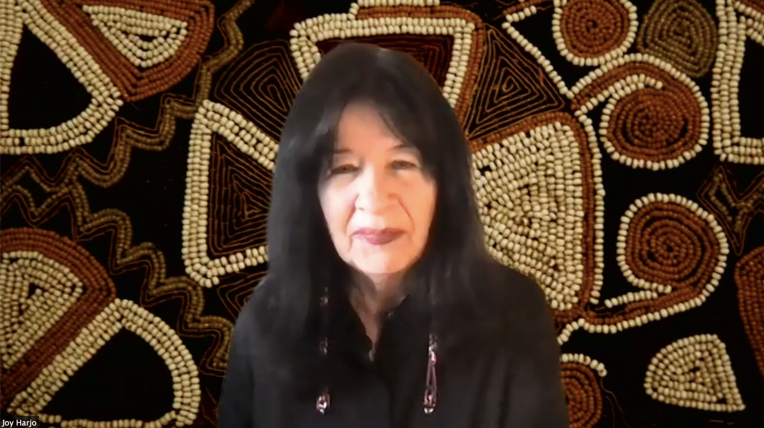 Joy Harjo discussed Native American identity through poetry during a Monday webinar co-hosted by the Harvard University Native American Program and the Harvard Art Museums.