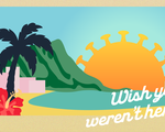 Hawaii postcard vector graphic