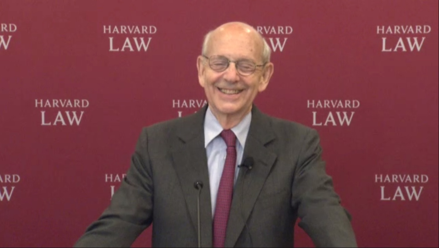 Supreme Court Justice Stephen G. Breyer spoke at Harvard Law School's annual Scalia Lecture Tuesday.
