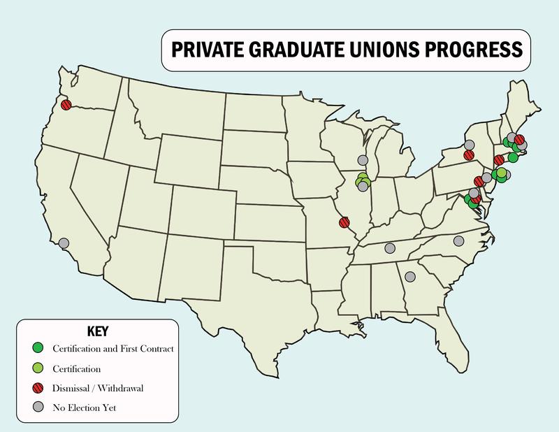 Grad Student Unions Map