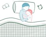 Cuddling Endpaper Graphic