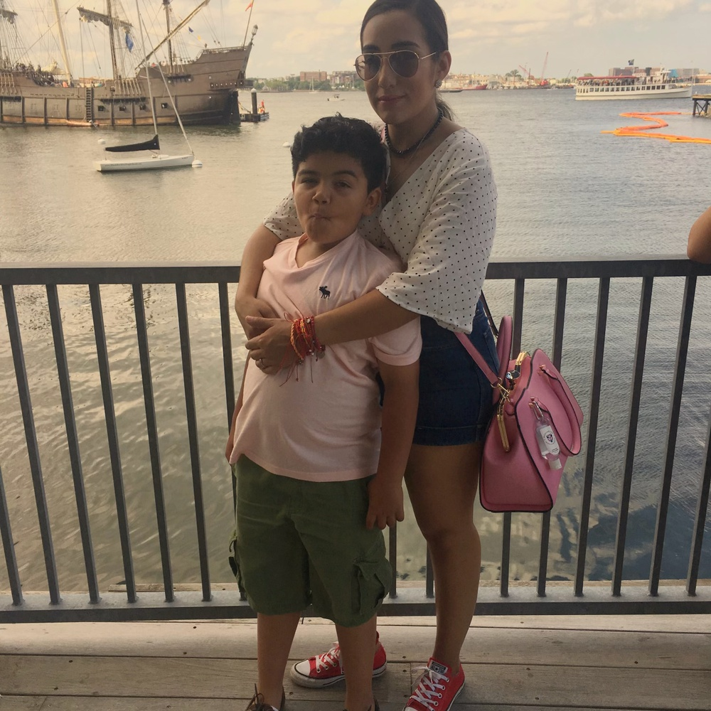 Blanca A. Iturralde, a dining worker at Harvard Medical School, says she doesn't want to use vacation days as sick days; otherwise, she wouldn't have time to spend with her son Nicholas over the summer.