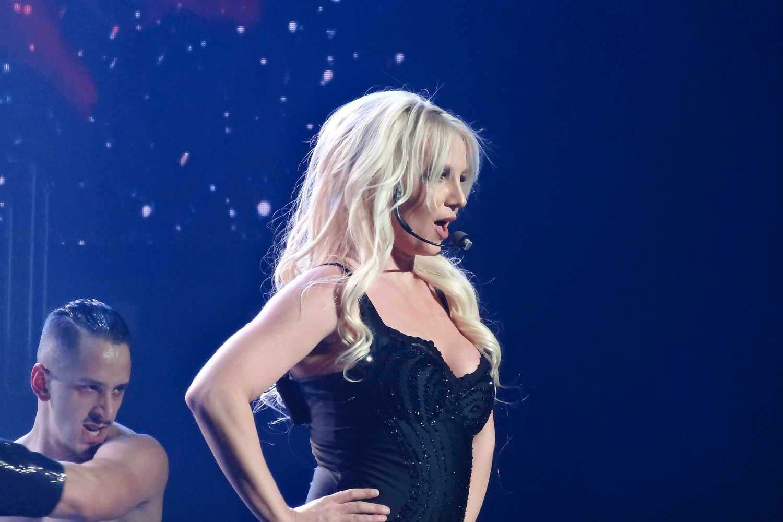 Britney Spears performing at her Piece of Me residency in Las Vegas in 2014.