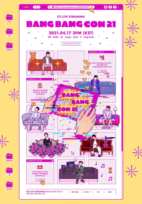 "BTS' online concert ""Bang Bang Con 2021."""