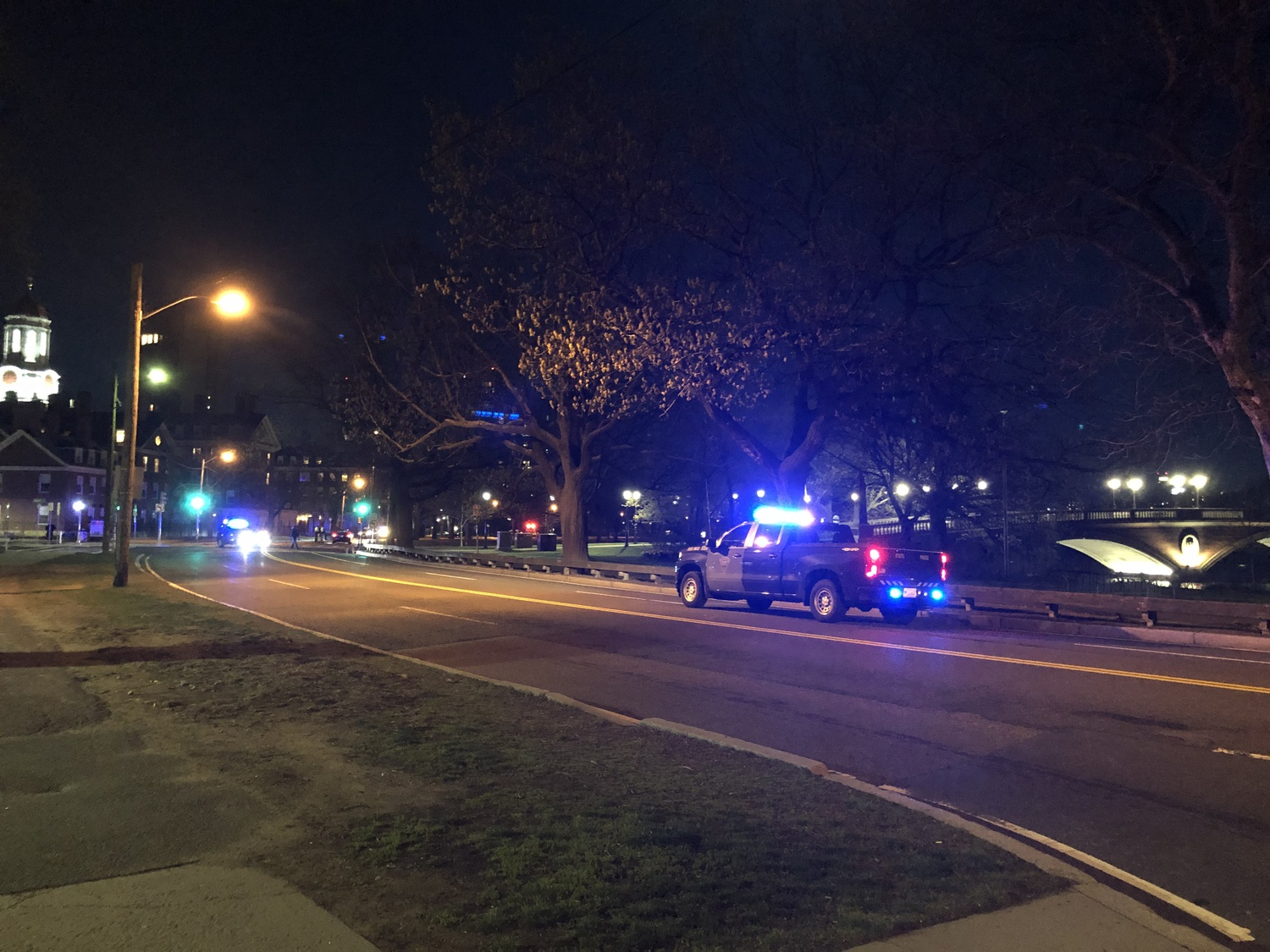 A driver struck a pedestrian on Memorial Drive near Dunster House around 9 p.m. Monday, resulting in serious injuries to the pedestrian.