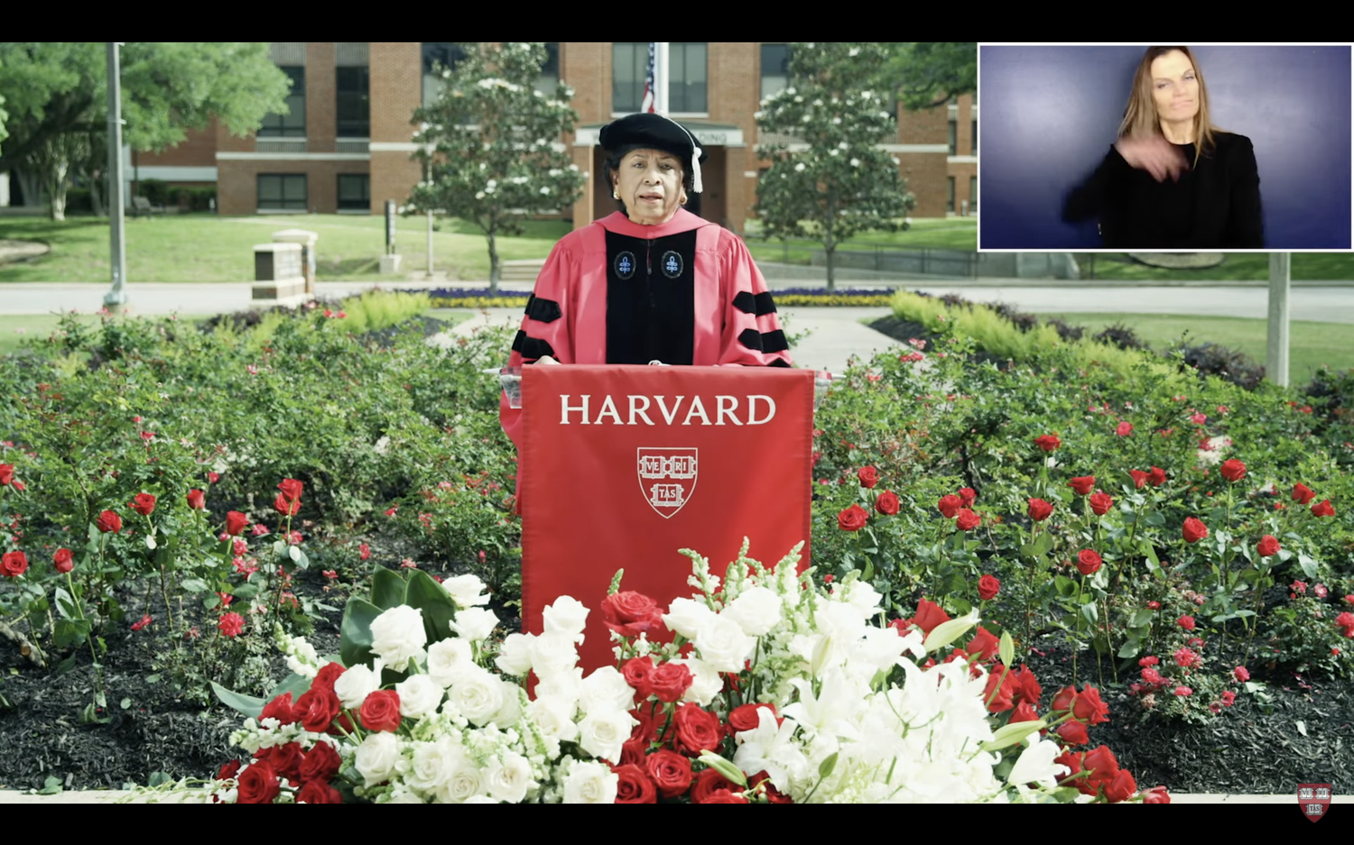 """In the ceremony's principal address, Ruth J. Simmons, the president of Prairie View A&M University, drew on the story of her segregated upbringing in Houston and called on Harvard and its graduates """"to be a force for inclusion."""""""