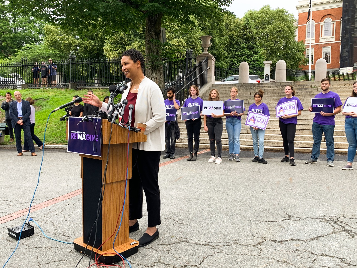 Harvard Government professor Danielle S. Allen officially launches her 2022 campaign for Massachusetts governor on Boston Common Tuesday morning.