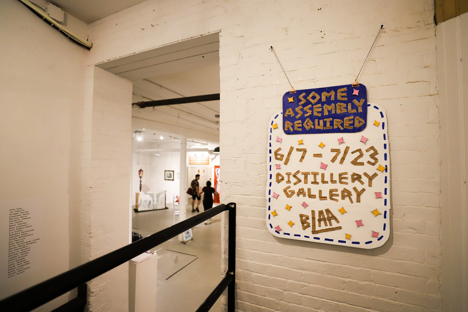 """The Boston LGBTQIA+ Artist Alliance, a volunteer artist-run organization, is displaying works by local queer artists at the Distillery Gallery in South Boston until late July in a showcase titled """"some assembly required."""""""
