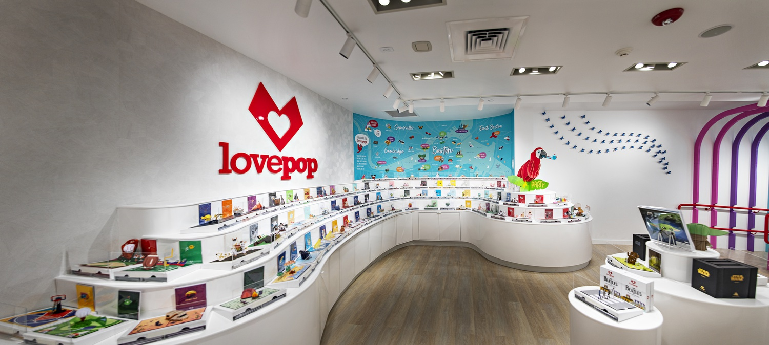 The Harvard Square location will be the fifth physical store Lovepop has opened nationwide since the beginning of 2020.
