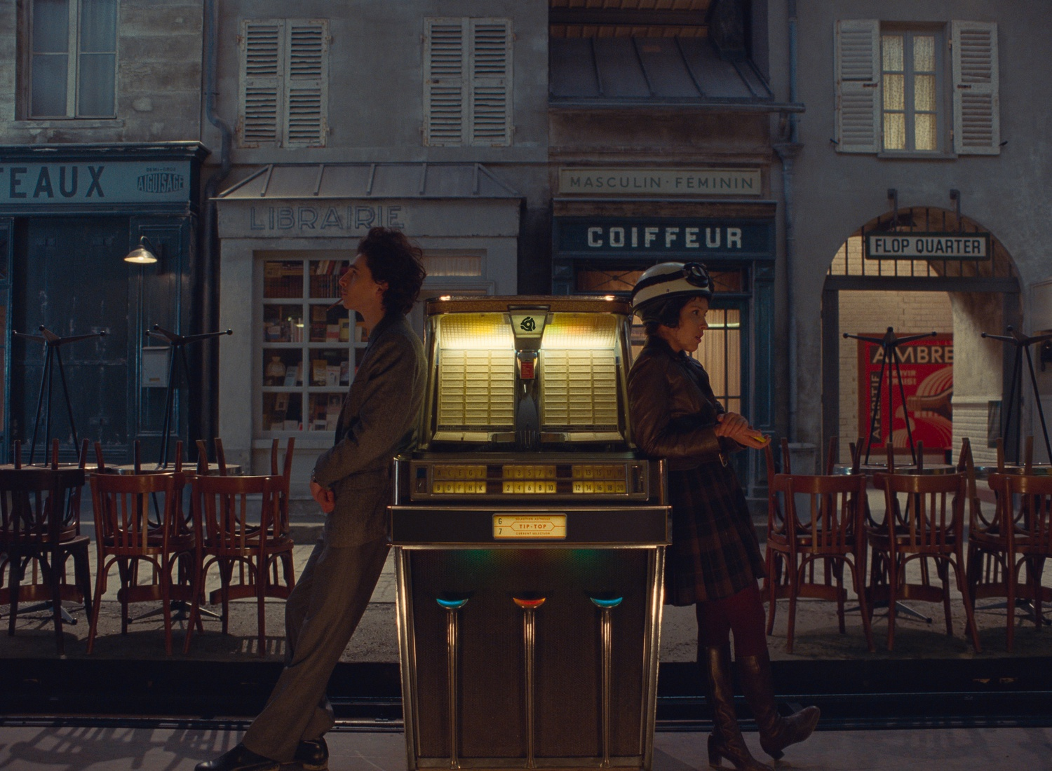 """Timothée Chalamet and Lyna Jhoudri in Wes Anderson's """"The French Dispatch."""""""