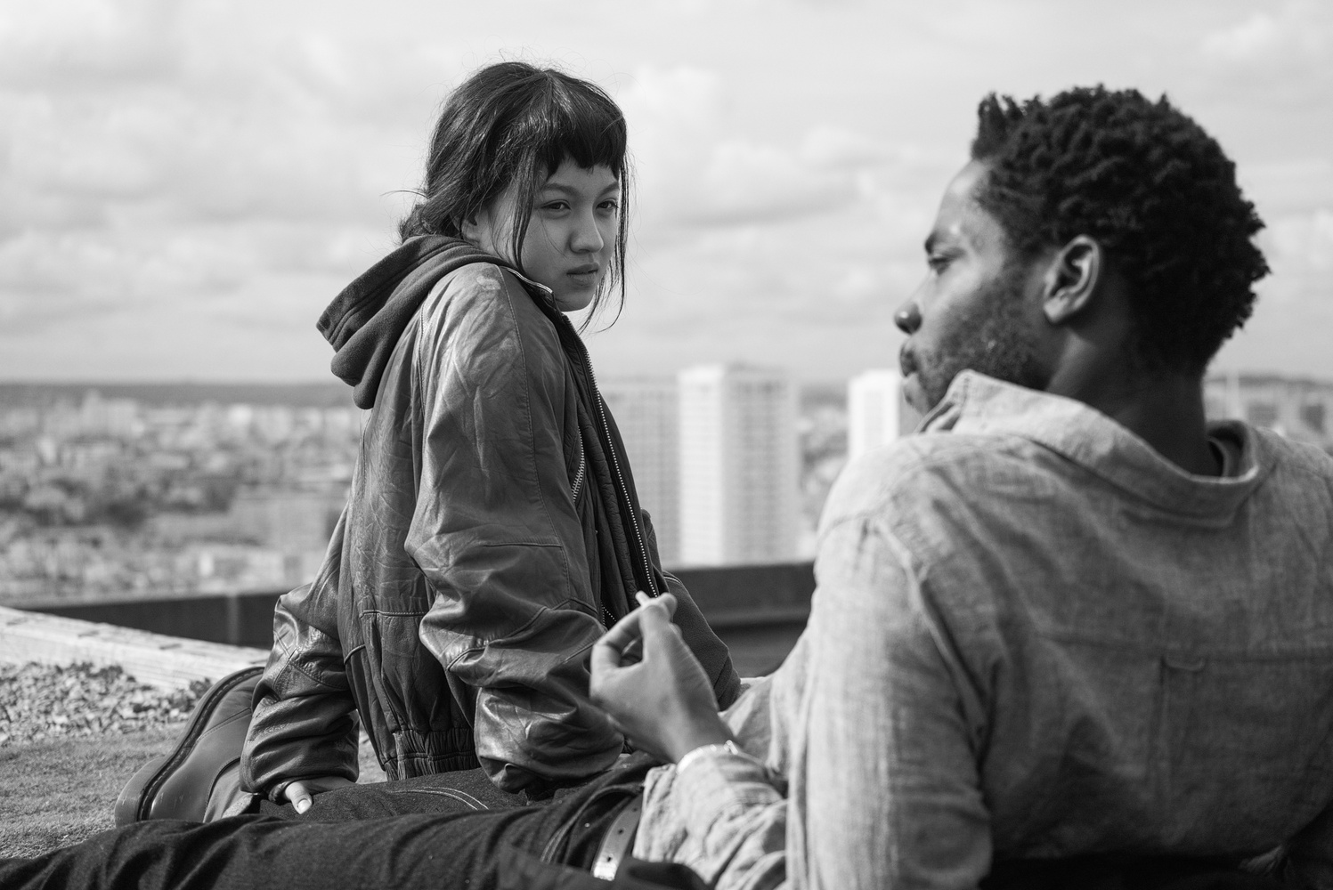 """Breakout actress Lucie Zhang and rising star Makita Samba in Jacques Audiard's """"Les Olympiades."""""""