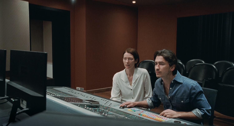 "Tilda Swinton and Juan Pablo Urrega in Apichatpong Weerasethakul's ""Memoria."""