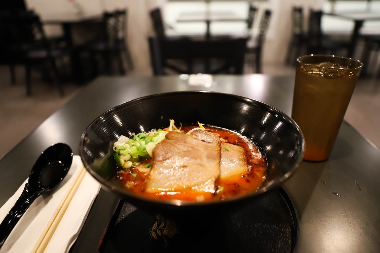 Menya Jiro's spicy Sakurajima ramen dish.