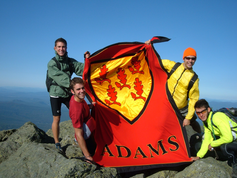 Kreycik, in yellow, with three other Adams House members hiking Mt. Adams in 2009.